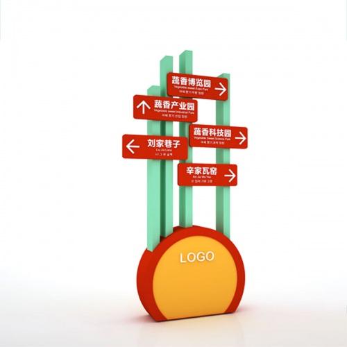 导视亿博国际app下载-彭州蔬香大道导视系统亿博国际app下载|主题片区指示牌景点介绍牌路标牌导览图导视系统亿博国际app下载效果图
