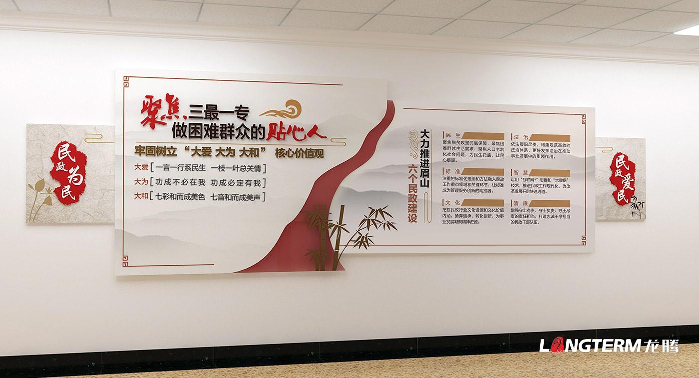 眉山市民政局办公室党建文化墙、廉洁警示教育文化墙策划亿博国际app下载效果图